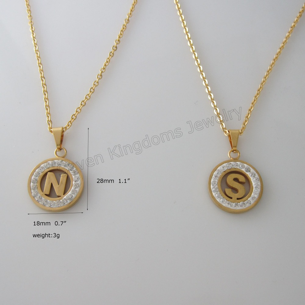 Min order 10$ STAINLESS STEEL color BY GOLD 20\