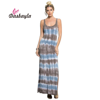 Dasbayla 2017 Summer Women S Casual Sleeveless Tank Top Dress Low Cut And Split Long Dress