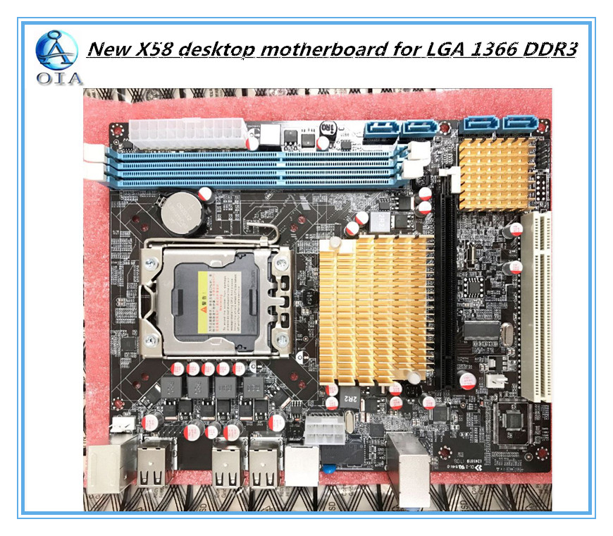 New desktop motherboard  X58 for LGA 1366 DDR3 16GB USB2.0 boards for quad-core needle 8PIN CPU motherboard high quality desktop motherboard for 580