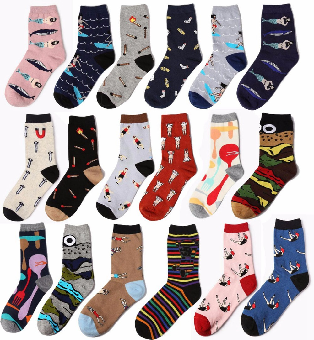 HARAJUKU Emoji odd future socks candy color high quality cotton chaussette homme socks men meias A3