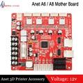 1 Uds. Anet 3D impresora A1284-Base V1.7 tablero de Control para Anet A8 y A6 y E12 3D impresora Reprap i3 3D piezas de impresora