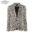 2017 New Fashion Slim Women Suit Notched Collar Ladies Leopard Sexy Suit Coat Jacket Vogue Refresh Solid Plus Size