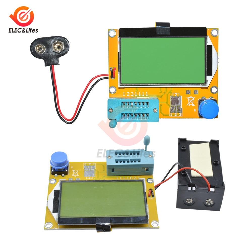 LCR-T4 Mega328 M328 Transistor Tester ESR Resistance Meter Diode Triode Capacitance Tester Multimeter MOS PNP NPN LCR Meter