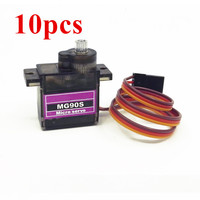 10pcs MG90S Metal gear Digital 9g Servo For Rc Helicopter plane boat car MG90 9G