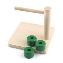 Обучающие деревянные игрушки Монтессори координационные для