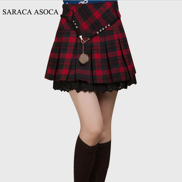 b6bb088cbb33d placeholder New Spring Autumn Plaid Short Student Skirt Girls Fashion Plus  Size High Waist Pleated Mini School