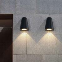 Modern LED wall light Porch lights Waterproof IP65 for bathroom garden Art deco outdoor lighting Aluminum wall lamp 5w bulbs