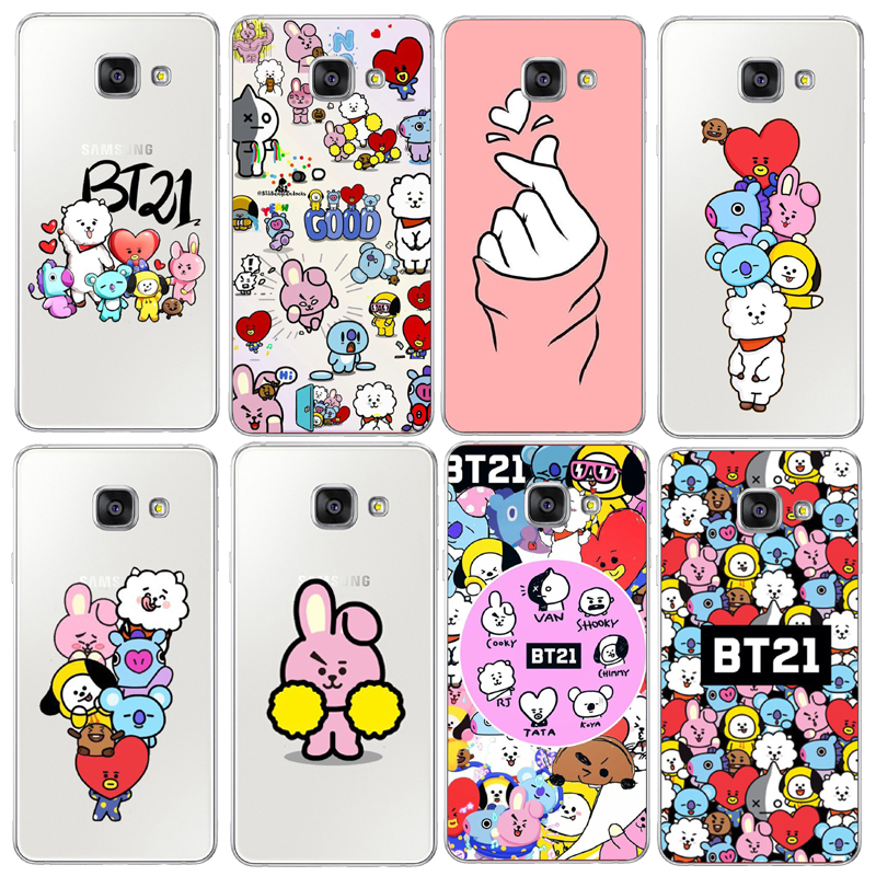 new styles 662c0 5fe9b BTS Korea Bangtan Boys Young Forever BT21 Hard PC Phone Cases Cover For  Samsung Galaxy S6 S7edge S8 Plus A3 A5 Note 8 Cover