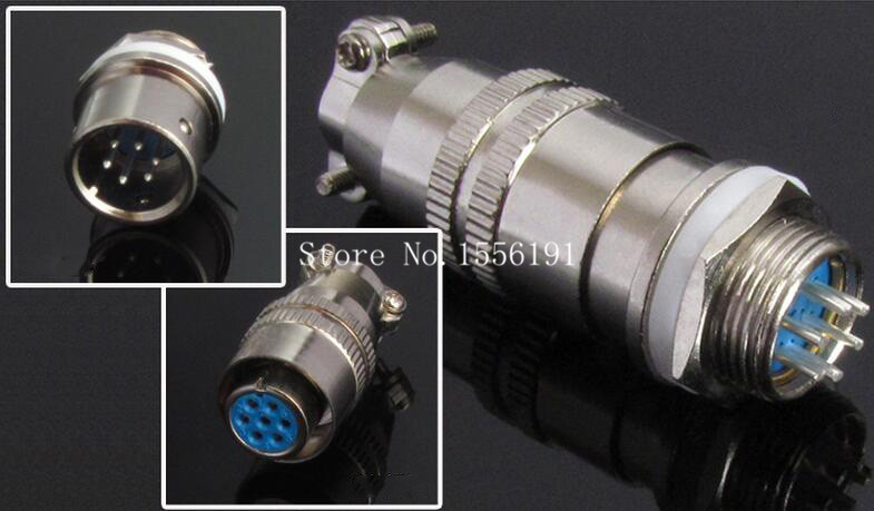 5 sets/kit 6 PIN 12mm XS12-6 Screw Aviation Connector Plug,XS12J6Y,XS12K6P,The aviation plug Cable connectors,AC/DC circuit