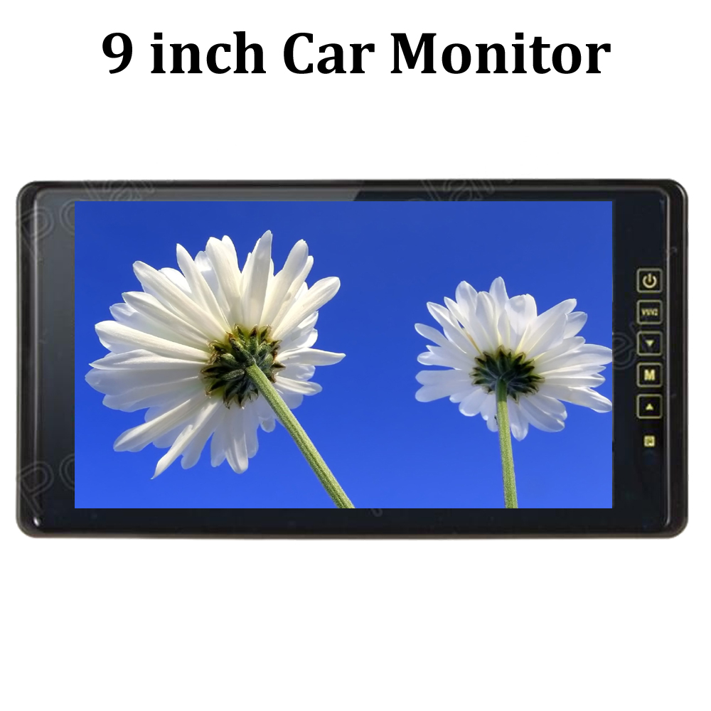 9 inch 2CH video input for DVD reverse camera reverse priority USB SD color TFT LCD Car Monitor