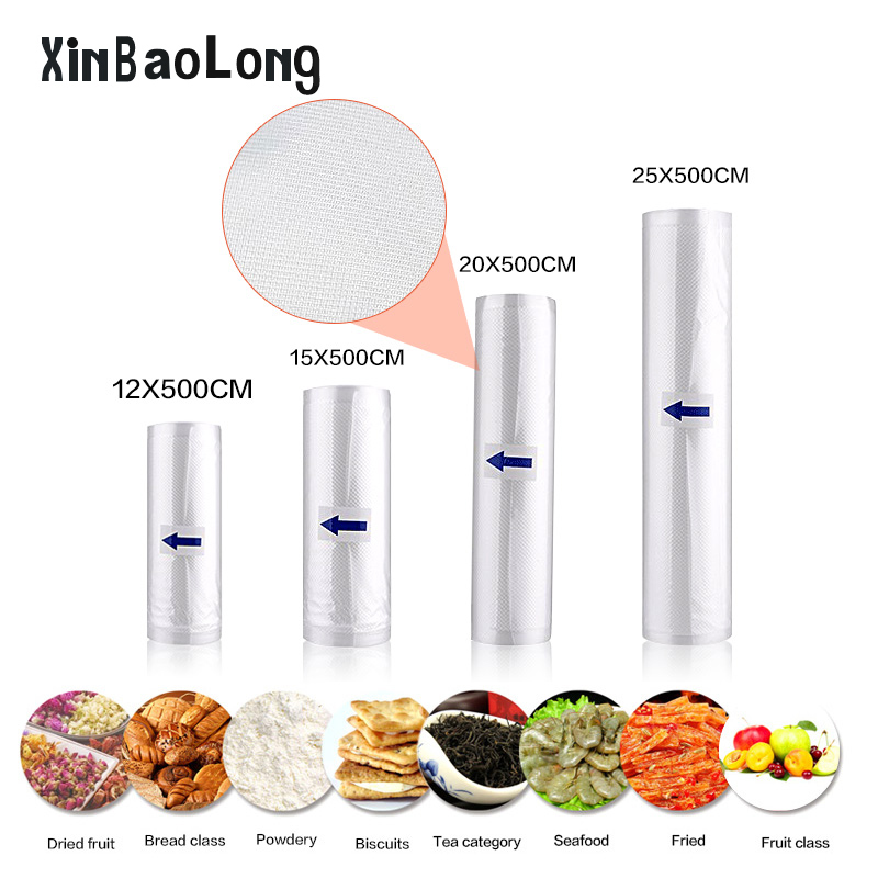 Kitchen Food Sealer Vacuum Bag Storage Bag For Vacuum Sealer Food Fresh Long Keeping  12 15 20 25 cmX500cm Vacuum Sealer Bag