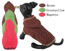 Pet Products Dog Supplies Sweaters acrylic Spring Autumn solid grid Puppy Handmade Sweater clothes