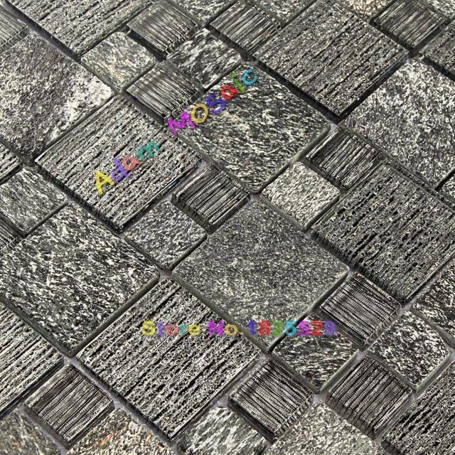 Stein Fliesen Schwarz Küche Backsplash Mosaik Fliesen Brthroom Wand Schwarz  Glasss U Bahn Blätter