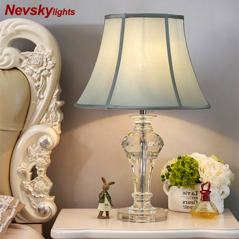 Crystal Table Lamp Desk lights decor table lights bulb lamp modern home decoration table lamps bedroom led bedside lamp E27
