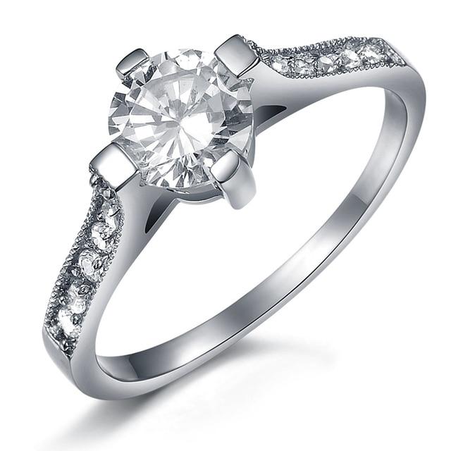 Fashion wedding ring titanium czech diamond lovers finger ring  (5 pcs/lot)