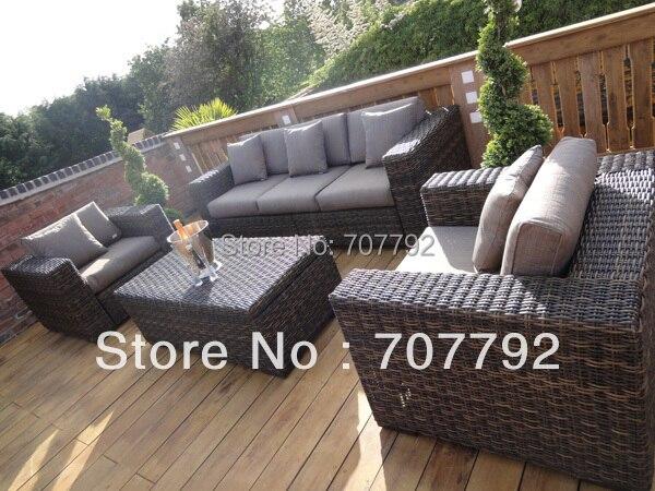new design vintage rattan furniture sofa set