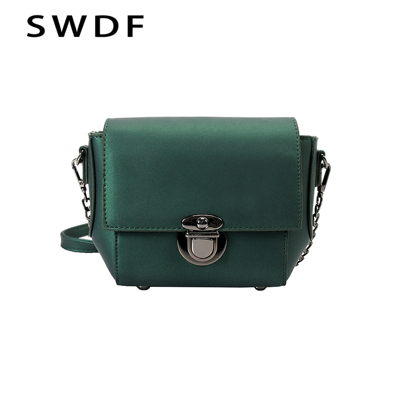 SWDF Women's Bag 2017 New MiNi Bag Korean Version Of The Small Square Bags Shoulder Messenger Fashion Chain Package handbags retro small square korean version of the printing bag graffiti shape shoulder mini oblique cross female package