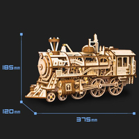 DIY 3D Laser Cutting Wooden Mechanical Model Building Kits Action by Clockwork Toys Hobbies Gift for Children