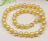 10 11mm south sea gold Pearl Necklace 18