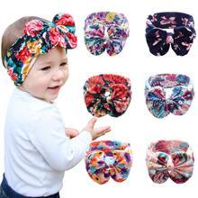 Купить с кэшбэком Children Bohemian Fashion Hair Accessories Printed Cross Hair Band Baby Unisex Print Knot Cross Headband Baby Hair Accessories