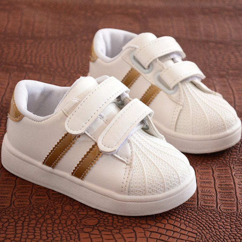 Children Shoes Girls Boys Sport Shoes Antislip Soft Bottom Kids Baby Sneaker New Casual Flat Sneakers White Shoes Size21-30