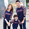 Matching Father Mother Daughter Son Clothes Long Sleeve Shirt Family Look Family Clothes Parent-child Outfit  Ma e Filha Sweater