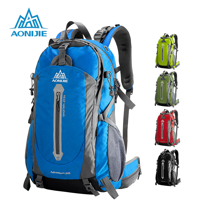 AONIJIE Outdoor Sport Camping shoulder bags Travel Backpack Bicycle Hiking Bags Waterproof Backpacks 40L 50L цена
