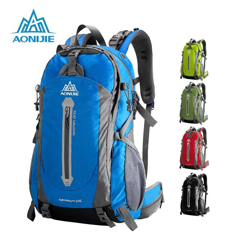 AONIJIE Sport En Plein Air Camping sacs à bandoulière sac à dos de voyage Vélo sacs de randonnée sacs à dos imperméables 40L 50L