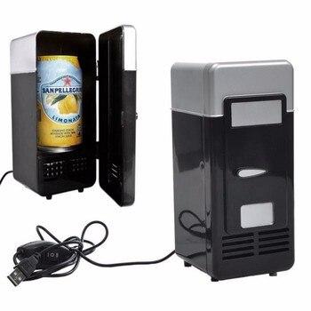 Mini USB Fridge office Cooler Beverage Drink Cans Cooler Warmer Portable Refrigerator USB Gadget for Laptop