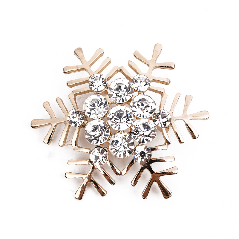 Top quality Magnificent Bridal crystal SnowFlower Brooches for women  rhinestone brooch fine jewelry Christmas ornamentation-in Brooches from  Jewelry ... 357c15ba0bef