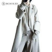 Hepburn autumn and winter woolen nizi coat medium and long style 2018 new Korean double sided nizi coat