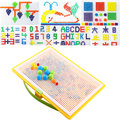 3D Kids Mosaic Mushroom 296pcs Nails Plug Beads Science Puzzles Assembled Toy IQ