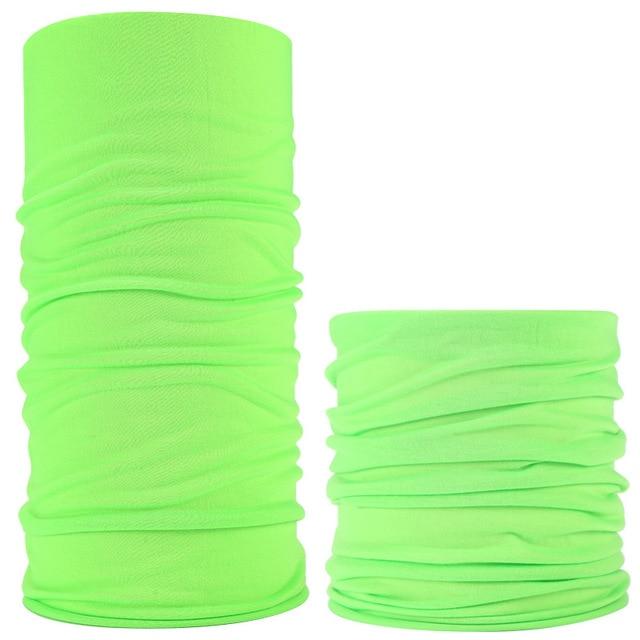 Solid Color Outdoor Face Shield Pure Army Green Neck Warmer buffe Cycling Custom muslim hijab Seamless Sports Mask Tube Bandana 4