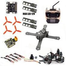 QAV-X QAV210 carbon fpv AT9S quadcopter frame F3 6dof Flight Control XT60 PDB Wdiy 2204 motor 12A ESC cross racing drone QAV-R