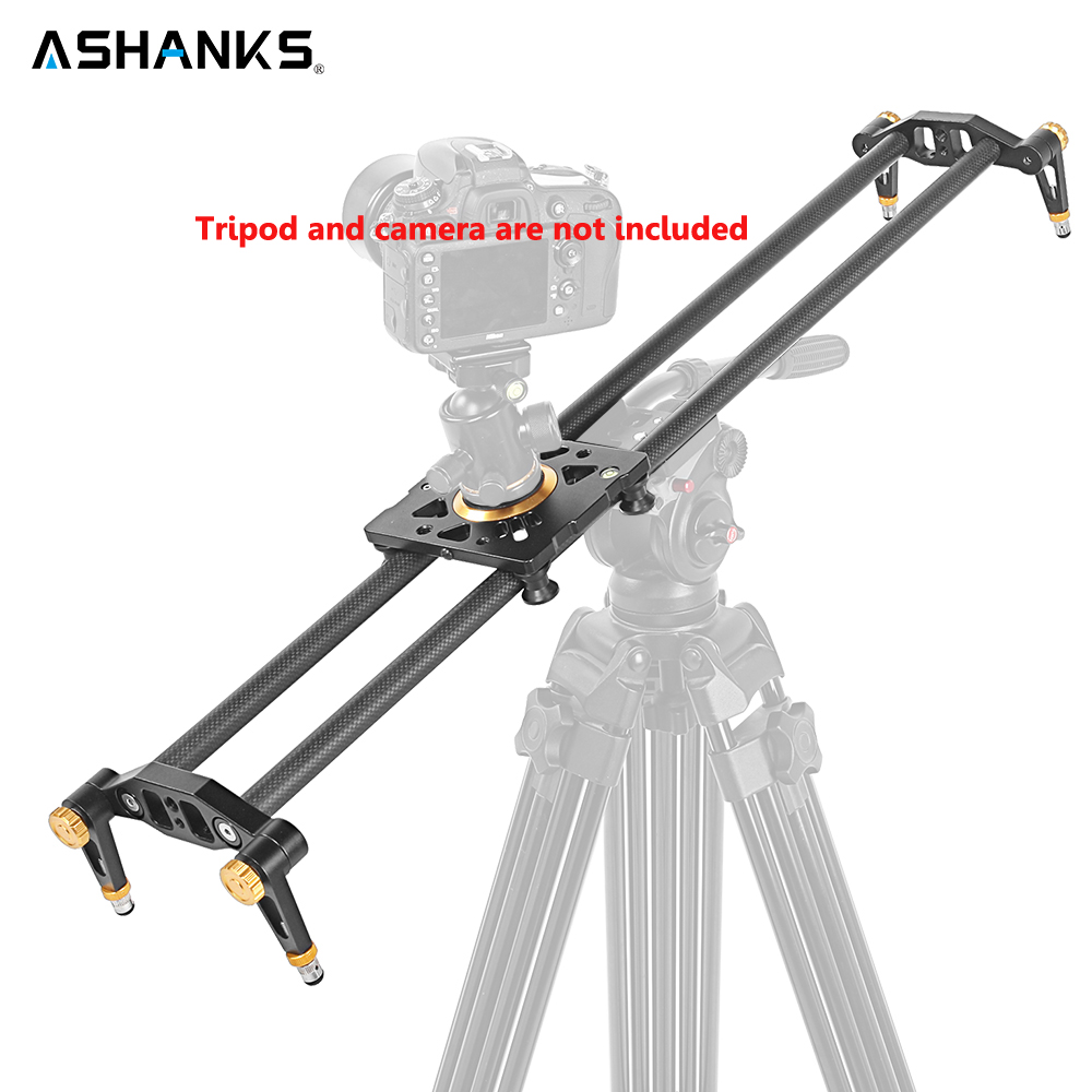 ASHANKS 6PCS Bearings 120cm Carbon Fiber Slider Track Video Stabilizer Rail Track Slider For DSLR or Camcorder ashanks 60cm 6 bearings carbon fiber dslr camera dv slider track video stabilizer rail track slider for dslr or camcorder