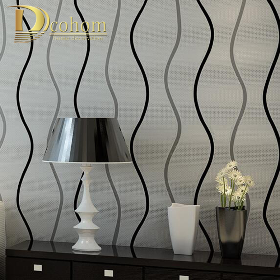 Simple Modern 3D Stereoscopic Wall paper Bedroom Living room Walls Silver Black and White Striped Wallpaper Designs R618 blue earth cosmic sky zenith living room ceiling murals 3d wallpaper the living room bedroom study paper 3d wallpaper