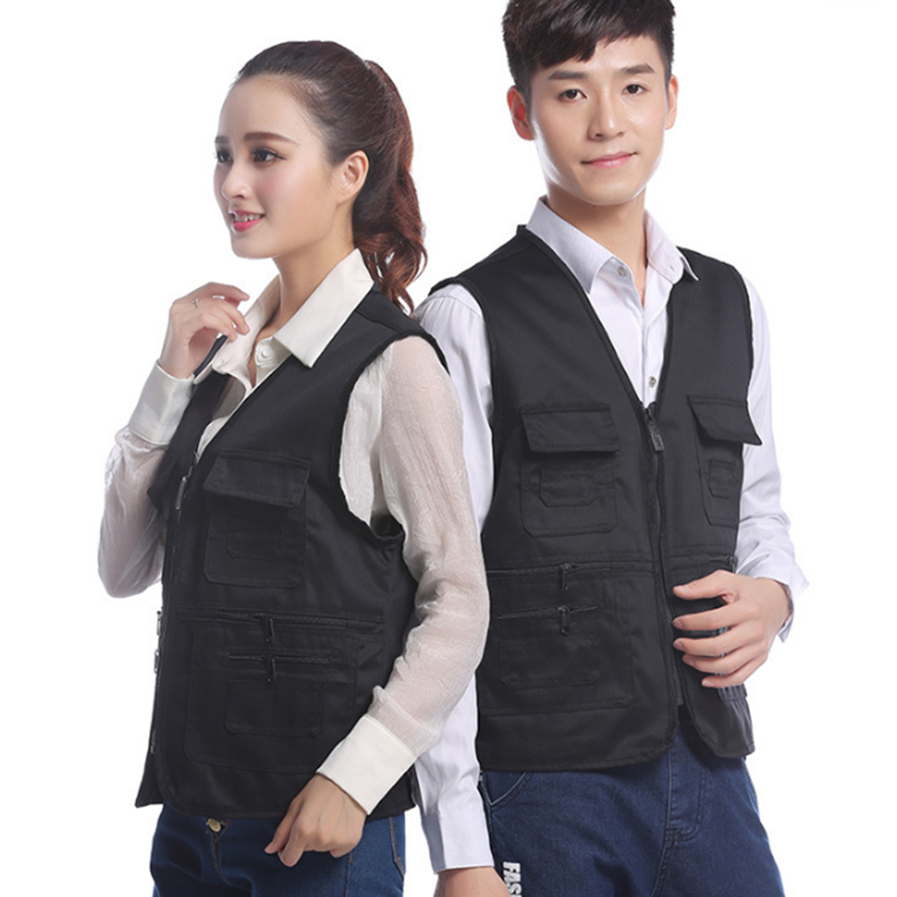 YJSFG HOUSE Brand Mens Vests Multi Pockets Travelers Fishing Photography Sleeveless Coat Male Worker Outwear Tank Top Jackets