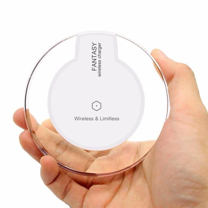 Cargador inalámbrico almohadilla de carga redonda de cristal 4