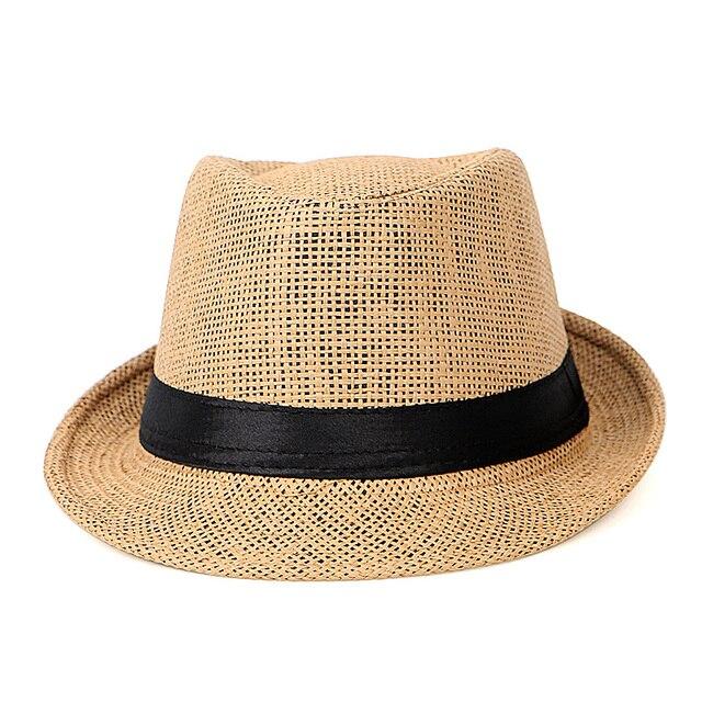 Chapeau de soleil pour hommes | Chapeau de jazz, Chapeu de voyage décontracté, Fedora Homme, chapeau de plage respirant, paille, chapeau de soleil, casquette gorro hombre, été 2020