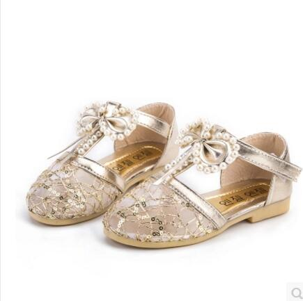 ca45cc676a3 2017children little girls dress Girls pearl shoes girls princess shoes  bowtie white shoes Soft pretty comfortable for kids girl