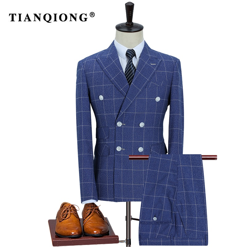 Здесь продается  TIAN QIONG Brand 2017 New Arrival High Quality Fashion Double Breasted Suits Men,streak Men