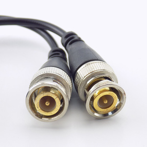 Image 4 - 10pcs 20pcs 3000FT מרחק UTP ABS פלסטיק CCTV מצלמה וידאו Balun מחבר פסיבי משדרי BNC זכר כבל Cat5 מתאם