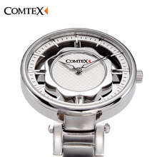 COMTEX Stainless Steel Watches Women  Personality Hollow Creative Leisure Watch Elegant Ladies Watch Luminous Quartz Watch