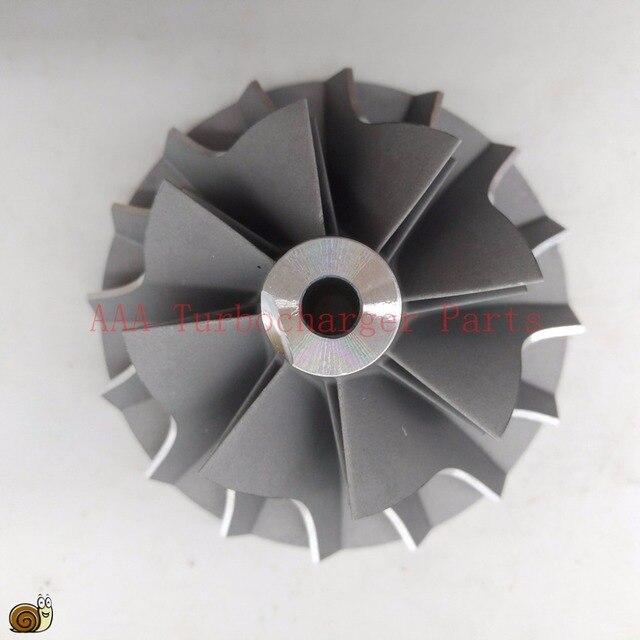 T04E Turbo คอมเพรสเซอร์ล้อ 48.5x70 มิลลิเมตร, ใบมีด 8/8 ผู้ผลิต AAA เทอร์โบชาร์จเจอร์