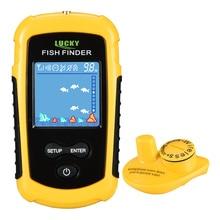 Lucky FFCW1108-1 Портативный Беспроводной ультразвуковой локатор с 2 дюймов ЖК-дисплей Ручной беспроводной рыболокатор преобразователь глубина finder