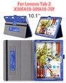 """3D печати Чехол для Lenovo Tab2 A10 30F 70F Пу Кожаный чехол для tab 2 A10-30F A10-70F 10.1 """"tablet pc защитный чехол стенд"""