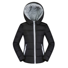 2018 Winter Jacket Womens Parkas Thicken Outerwear solid hooded Coats Short Female Slim Cotton padded basic tops