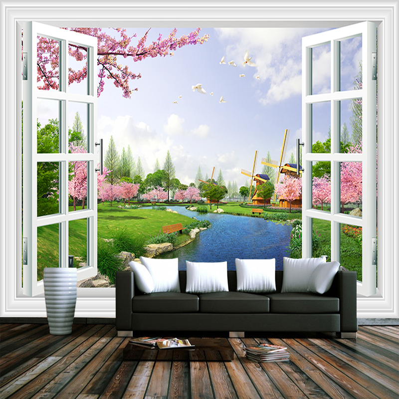 Home Improvement Painting Supplies & Wall Treatments Beibehang Customize Any Size Mural Wallpaper 3d Hd Large Bird Outdoor Safari Living Room Bedroom Background Wall