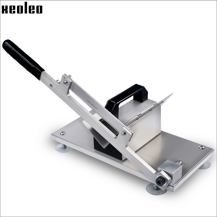 XEOLEO Manual Meat Slicer Fat Cattle/Mutton Roll Slicer Frozen Meat Slicing Machine Stainless Steel Sanqi/Gelatin Paste Slicer