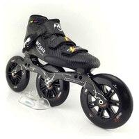 JAPY стекло волокно сапоги и ботинки для девочек Professional скорость роликовых коньков для женщин мужчин мм 3*125 мм колёса конкурс роликовых коньк